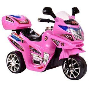 azeno night rider pink elmotorcykel børn
